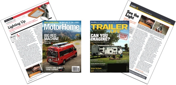 'Motorhome' and 'Trailer Life' magazine articles